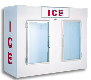 model 100 upright indoor ice box