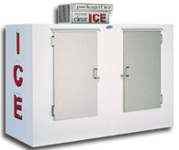 model 100 upright outdoor ice cooler