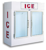 model 60 upright indoor ice box