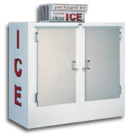 model 60 upright outdoor ice box