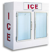 model 75 upright indoor ice box